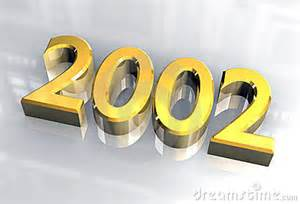 New year 2002 in gold 3d royalty free stock photo image 3823875