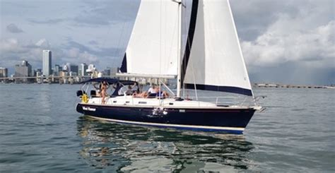 sailboat rental miami beach miami bareboat rentals miami sailing private sailboat