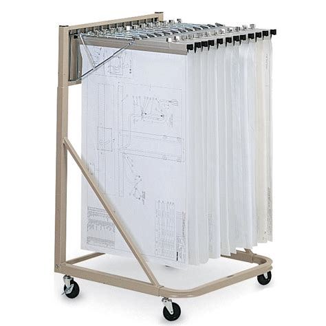 blue print rack hanging plan drawing rolling cart vertical mobile