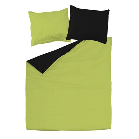Green And Black Duvet Cover by Black And Green 100 Cotton Reversible Bed Linen Set