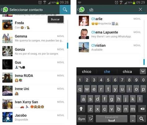 imagenes de whatsapp de amistad trucos para whatsapp c 243 mo buscar contactos y mensajes