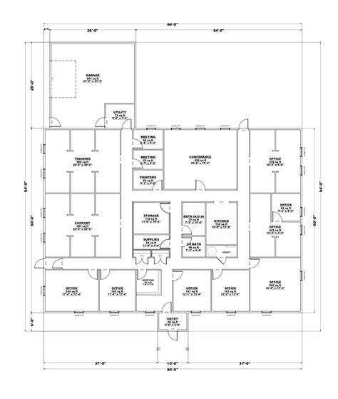 4 best images of small office layout visio simple