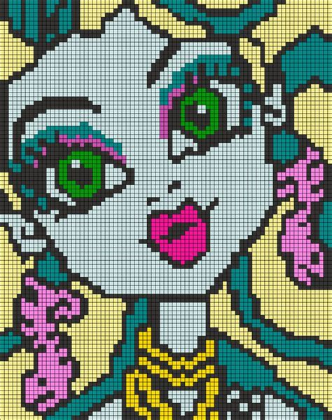pixel bead patterns high pixel pattern by qwazy2 pixels sprites