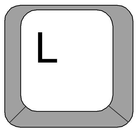 Keyboard L by Clipart Computer Keyboard Letter L Key