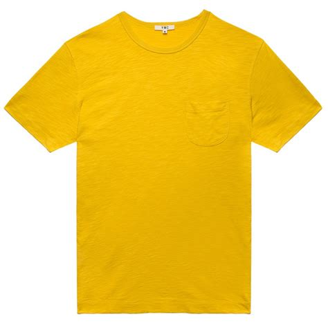 I Monday Yellow Shirt ymc yellow pocket t shirt in yellow for lyst