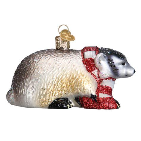 badger old world christmas ornament