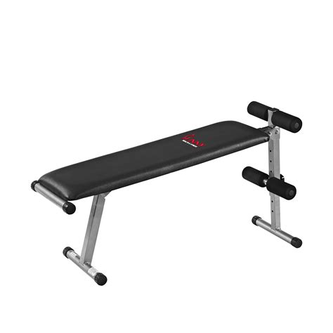 flat sit up bench amazon com sunny health fitness sf bh6505 2 in 1 flat