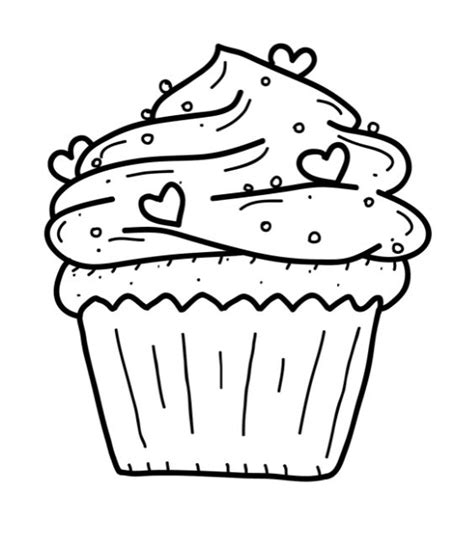printable cupcake coloring pages party ideas pinterest