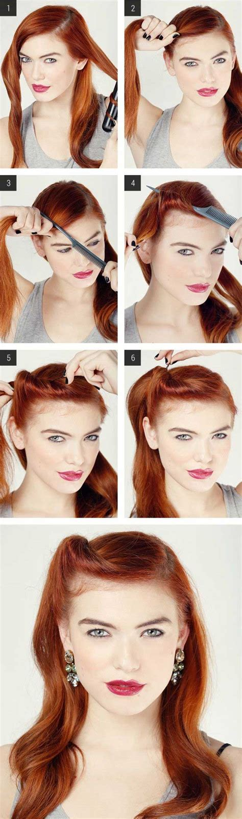 cute hairstyles vintage easy retro hair tutorial love and sayings