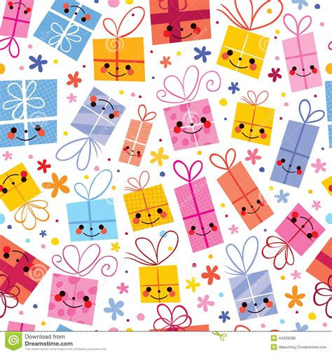 pattern design wrapper cute gifts wrapping paper seamless pattern stock vector