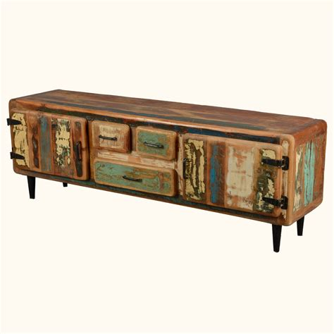 reclaimed wood tv cabinet reclaimed wood rustic media console tv stand cabinet entertainment furniture ebay