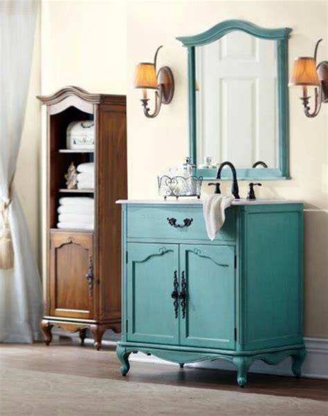 Aqua Bathroom Vanity by Turquoise Vanity Bathroom Decor