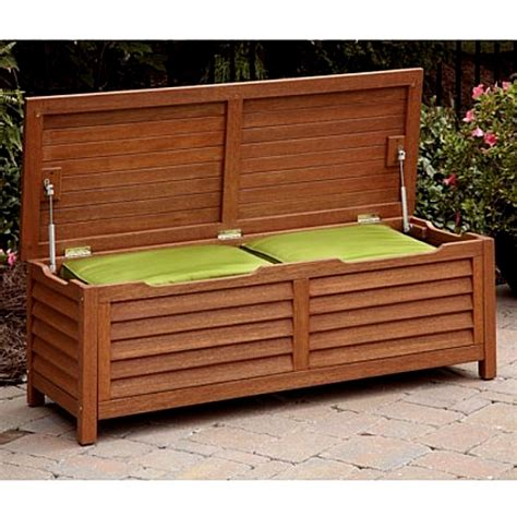 outdoor furniture with storage eucalyptus outdoor deck storage box coffee table
