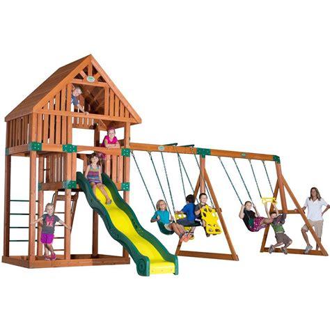 Backyard Discovery Cedar House Backyard Discovery Quest All Cedar Playset 54243com The