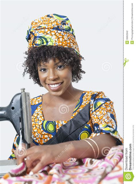 African American Sewing Blogs   portrait of an african american woman using sewing machine