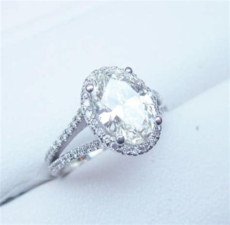 oval engagement ring halo split shank 2 carat www
