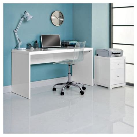 High Gloss White Office Desk Buy Viva High Gloss Office Desk White From Our Office Desks Tables Range Tesco