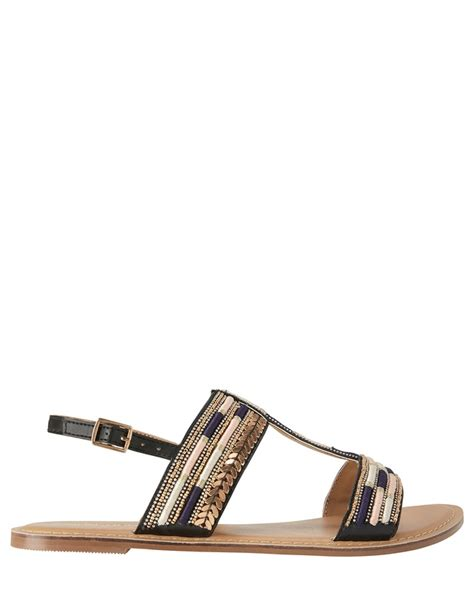Gladys T Bar Sandal From Monsoon by Shiloh Embroidered T Bar Sandals Endource