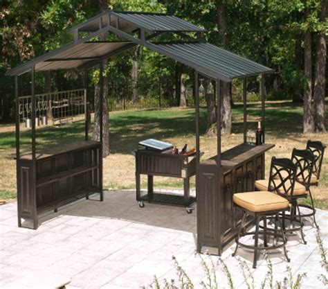 gazebo bar new large steel frame grill gazebo outdoor bar vented