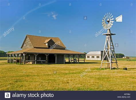 de smet laura ingalls wilder homestead barn and windmill at the ingalls homestead near de smet sd