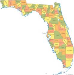 florida state map by county map of florida