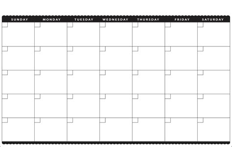 printable calendar empty 7 best images of cute printable blank calendar cute
