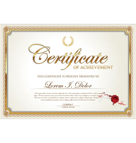 adobe illustrator certificate template exquisite certificate frames with template vector free