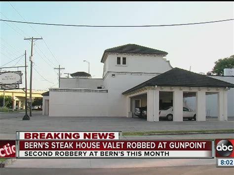 bern s steak house second valet at bern s steak house robbed at gunpoint