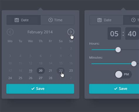 ui pattern date range 28 datepickers for website ui and mobile apps bittbox