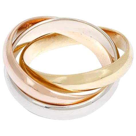 cartier tri color gold ring sz 54 for sale at 1stdibs