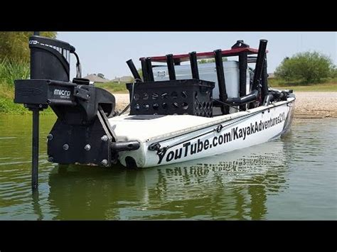 boat landing pole kayak power pole micro anchor youtube