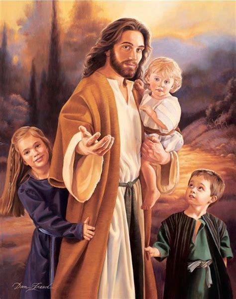 imagenes de nuestro señor jesus hermosa imagen de jes 250 s con ni 241 os a su lado imagenes de