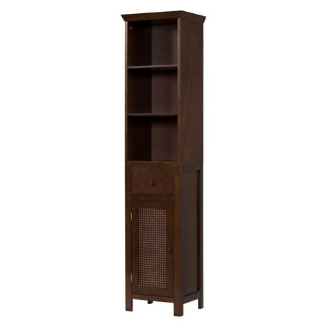 cabinet with shelves and doors brown floor linen tower cabinet w 3 shelves for bathroom kitchen storage ebay