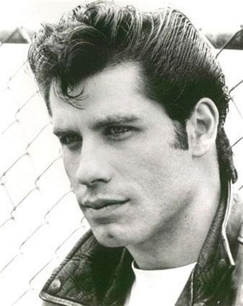 Grease Hairstyles For Guys With Hair by Travolta Sure Made The Ducktail Look In Grease