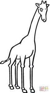 imagenes de jirafas a blanco y negro dibujo de jirafa sin manchas viendo al frente para