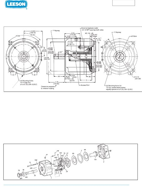 Leeson Electric Outboard Motor C Face Motors User Guide
