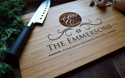 family name personalized bamboo cutting board personalized cutting board engraved bamboo family name