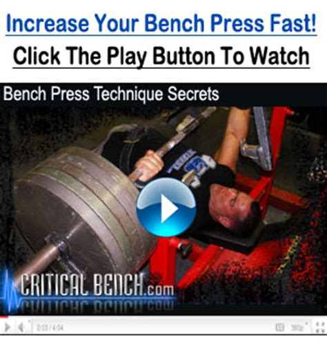 bench press improvement program critical bench review get free trial now
