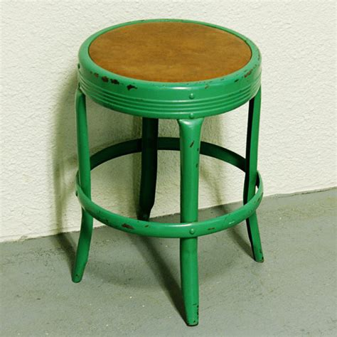 vintage metal stool by moxie thrift traditional