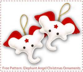 free pattern elephant angel christmas ornaments sew