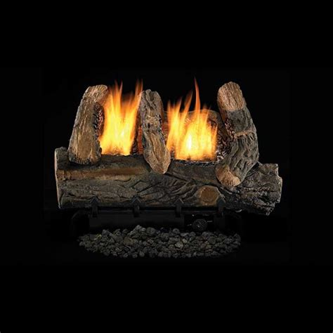 ceramic gas fireplace logs ihp superior vintage oak log ceramic fiber vf gas logs