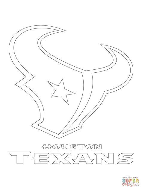 houston texans logo template houston texans logo coloring page free printable