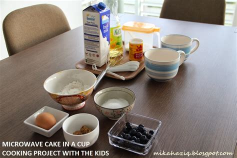 mikahaziq cooking project with the kids blueberry