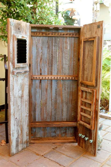 Armoire Rustic Home Decor Jewelry Storage Hanging