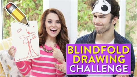 The Blindfolded Drawing Challenge blindfold drawing challenge ft max schneider