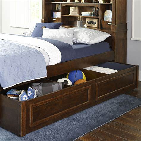 bookcase and storage bookcase bed with trundle storage drawer by legacy