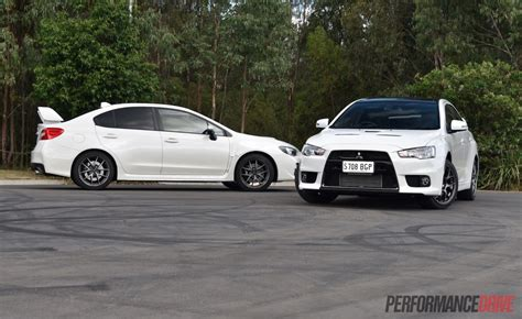 subaru vs mitsubishi 2016 mitsubishi lancer evolution vs subaru wrx sti
