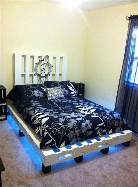 pallet bed with lights pallet bed with lights 101 pallets