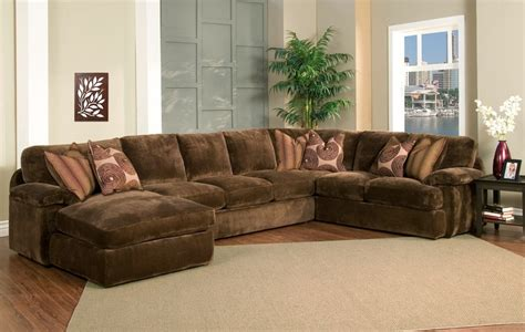 oversized sectional couch chion brown fabric 4 peice oversized chaise sectional