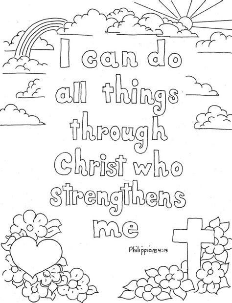 coloring pages for kids by mr adron matthew 724 the coloring pages for kids by mr adron philippians 4 13